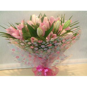 Pink Lily Hand Tied