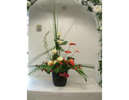 Steel Grass vase