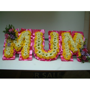 Fresh Flower Letters on a frame
