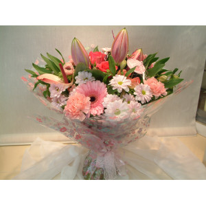Soft Pink Hand Tied