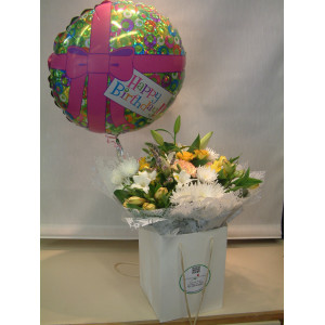 Hand Tied & Balloon