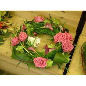 Rose & Calla Lily Wreath